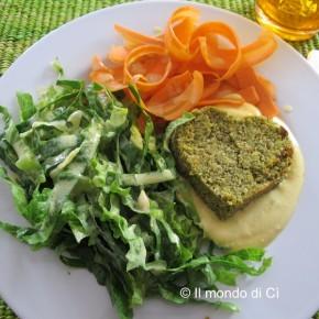 Cuoricini di ceci e zucchine in insalata. Ricetta e immagine de Il mondo di ci.