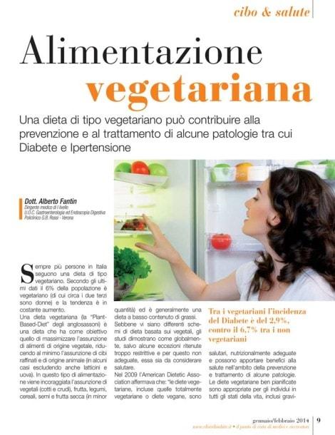 Alimentazione vegetariana - articolo dott. Fantin
