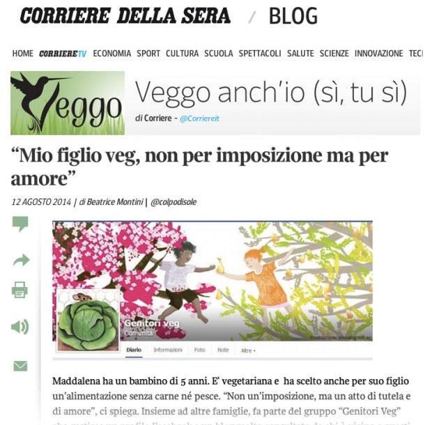 Corriere Veggo anch'io 12 agosto2014