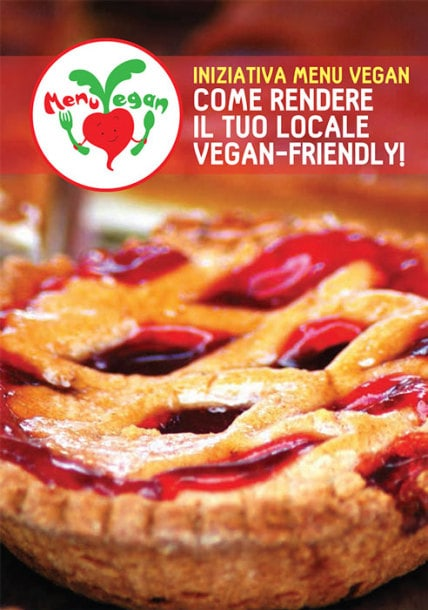 Opuscolo Menu vegan nei locali