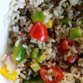 Insalata di riso e lenticchie